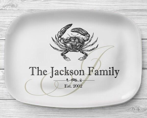 melamine crab platter personalized seafood serving platter