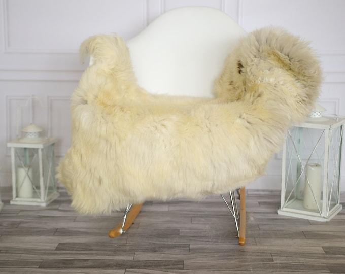 Sheepskin Rug | Real Sheepskin Rug | Shaggy Rug | Chair Cover | Sheepskin Throw |Brown Beige Sheepskin | Home Decor | #HERMAJ42