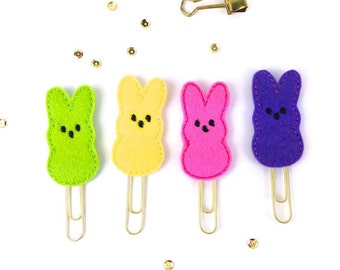 Peep Planner Clip - Easter Bunny Peep Paper Clip Planner Accessory, Easter Gifts | Novelty Paper Clips - Bookmark | Party Favor ideas