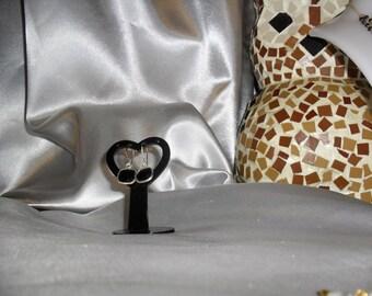 Spinel gemstone earrings fine gemstone on silver