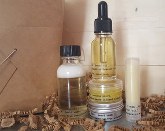 Come To Daddy! Beard Care Kit with Added Lip Balm and Herbal Salve
