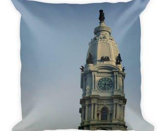 Philadelphia Pillow, Philadelphia Gift, Philadelphia Decor, Philadelphia Skyline, 18X18 Pillow, Minimalist Throw Pillow, Eagles Superbowl