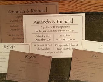 Border Wedding Invitation set SAMPLE