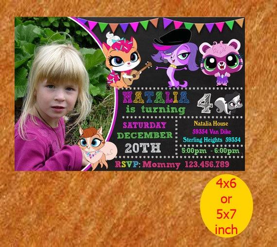 Littlest Pet Shop Invitation Littlest Pet Shop Birthday