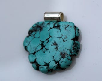 CLEARANCE*****Polymer Clay Faux Turquoise Pendant