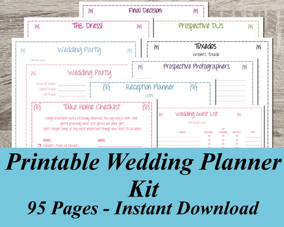 Printable Wedding Planner Instant Download Ultimate Wedding