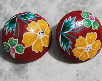 Vintage Fiesta Earrings Clip On Earrings Retro Earrings
