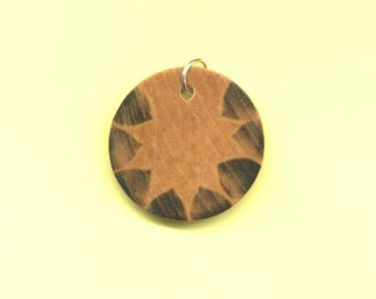 Spiritual Path Wood Pendant