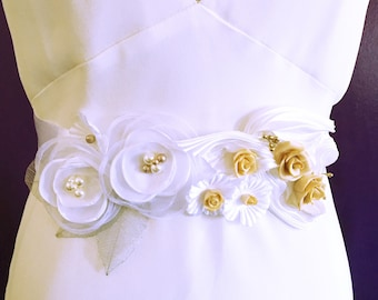 Wedding Belt Capucine / Wedding sash white