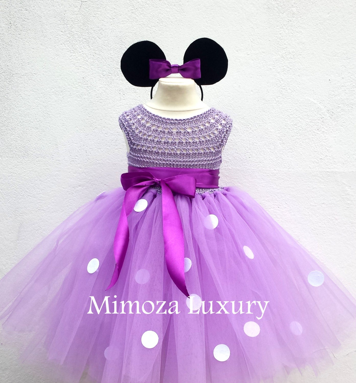 Lilac Minnie mouse birthday dress, Lavender minnie mouse outfit ...
