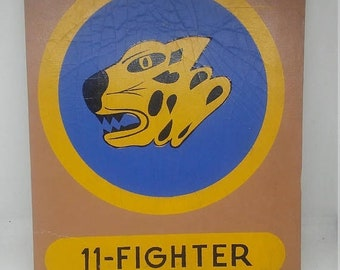 Spring Sale Vintage 11th Fighter Squadron Teaching Aid Display Patch