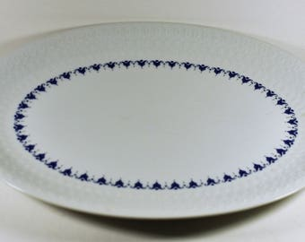 "Mikasa Melody Pattern 14"" Oval Serving Platter Embossed"