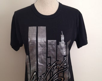 Vintage New York Metallic Tshirt