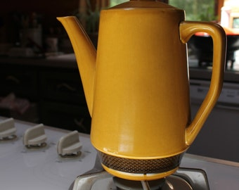 Vntg Aurora Ironstone Coffee Pot Ceramic