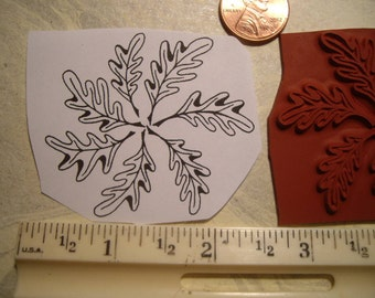 janes special wood block and cushion for her pinwheel leaf  rubber stamp un-mounted scrapbooking rubber stamping