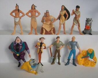 Collectible Complete 12 figures Set POCAHONTAS Nestle 1996