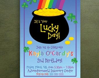 Lucky Day Irish Birthday Invitation (Printable Option)