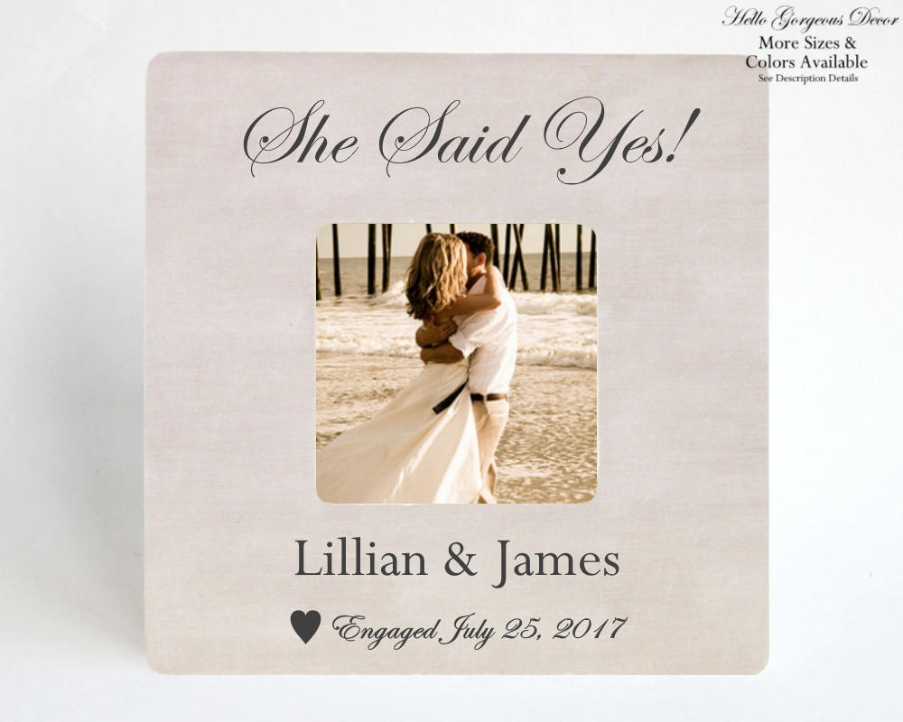 Engagement Gift to Couple PICTURE FRAME Personalized Engagement ...