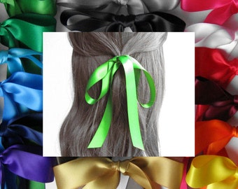 "HAIR RIBBON-7/8"" Satin Hair Ribbons (36"" Long)-Hair Bows, Women's Hair Ribbons, Girl's Hair Ribbons, Hair Accessories, Bad Hair Days"