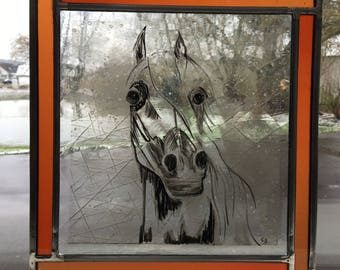 stained glass - horse #one