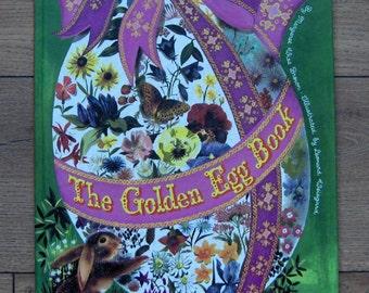 vintage 40s/70s big oversize golden book The Golden Egg Book  boys girls ex-library