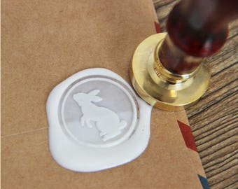 Wax seal in the shape of rabbit - Easter