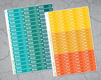 Read Stickers for Passion Planner | Erin Condren Life Planner | Happy Planner Classic | Plum Paper Planner | Emily Ley Simplified Planner