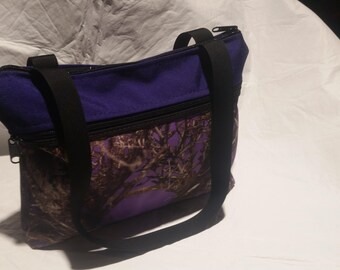 Cordura Every Day Hand Bag Limited Editin purple  camo with purple top