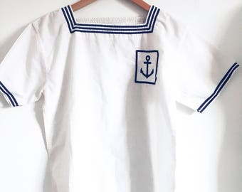 Gorgeous Rare Vintage, French Sailor Girl Top