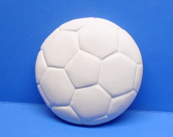 Ready To Paint/DIY/Plaster/ChalkWare/PlasterCraft Flat Back Magnet Soccer Ball #11