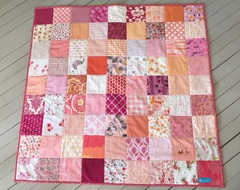 Scrappy Pink Baby Quilt