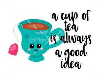 A cup of tea printable planner sticker