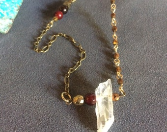 warm gemstone necklace