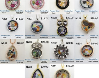 Metaphysical Floating Charm &  Genuine  Crystal Pendants
