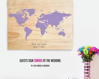 Wooden Guestbook, Travel Guest book, Wedding Guestbook, Wedding Guest Book, Travel Map Wedding, Guest Book Alternative, Travel Theme Wedding