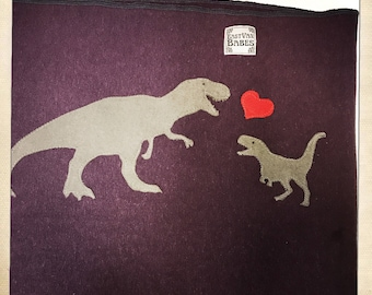 Dinosaur Wrap- Hemp Baby Carrier