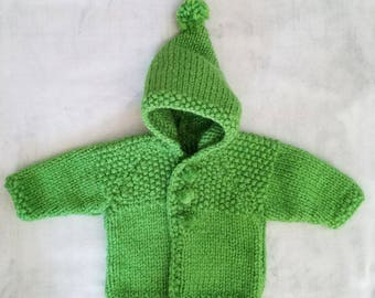 Baby boy 6 month green hooded coat