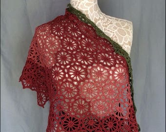 Delicate Rose Lace Wrap
