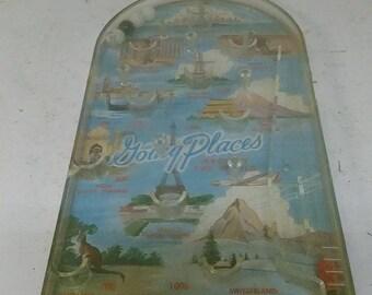 Plastic pinball game