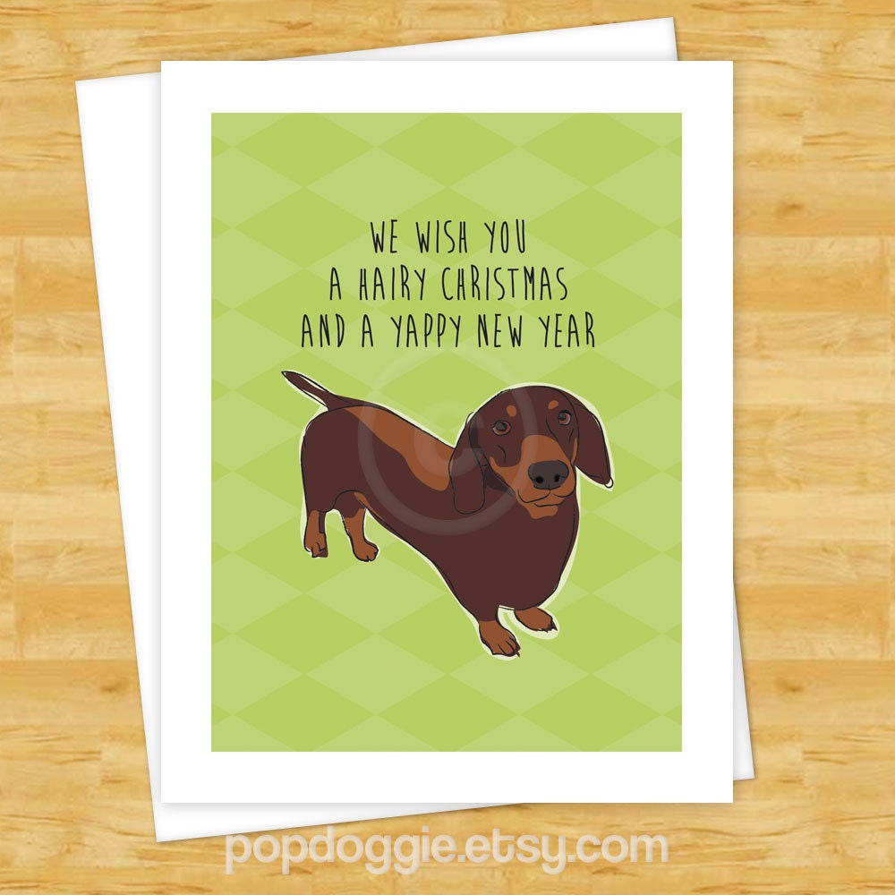 Dog christmas cards chocolate dachshund wishes you a hairy zoom kristyandbryce Image collections