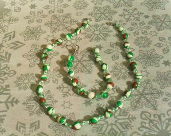 gorgeous set unique and original White, copper and green