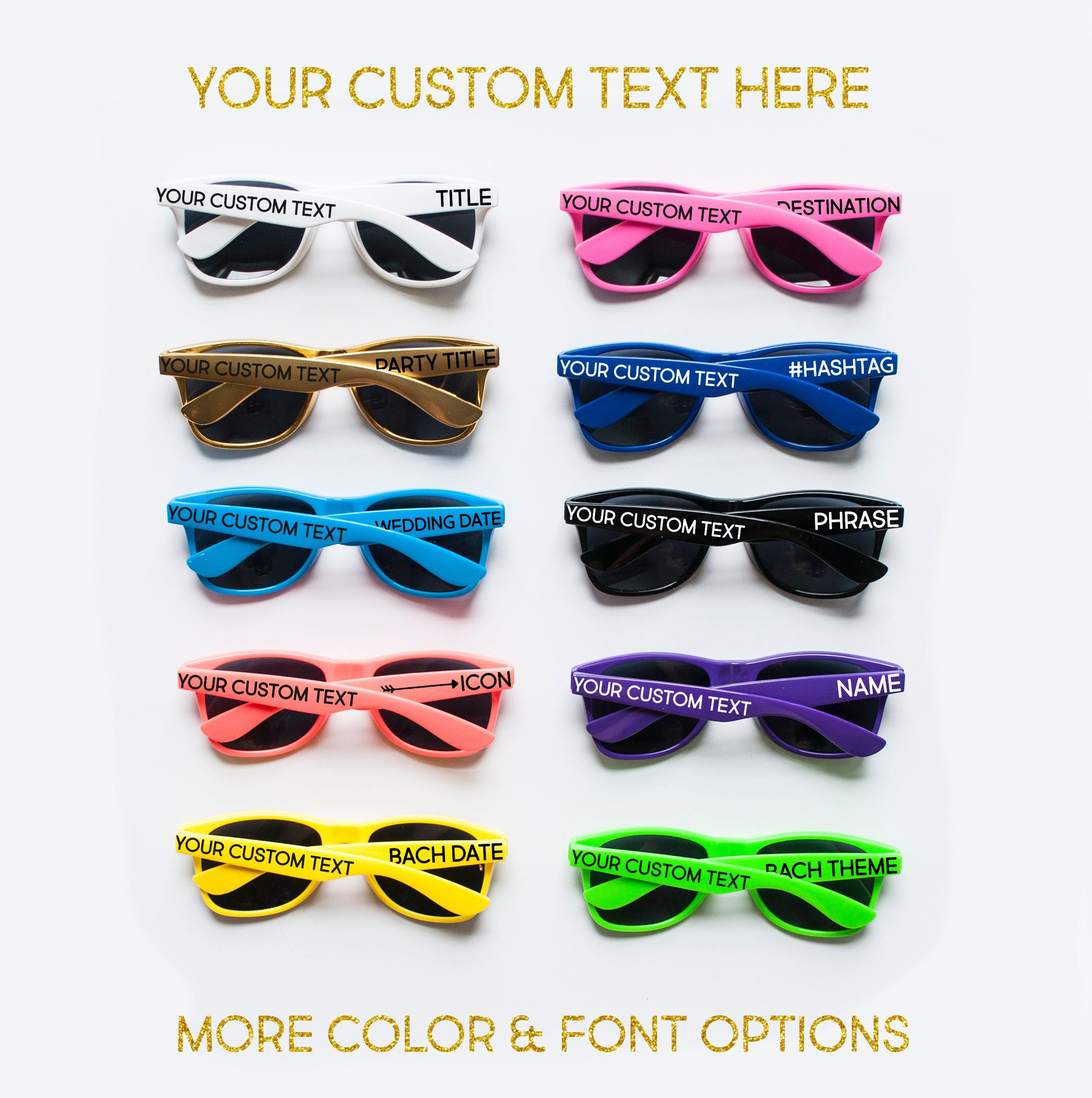 Personalized Sunglasses Custom Sunglasses Bachelorette