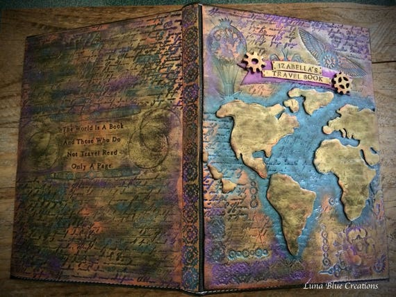 Steampunk world map travel journal travel journal gumiabroncs Choice Image