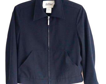 90's InWear Light Weight Black Coat