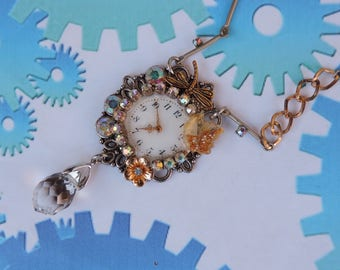 """Victorian necklace. """"It's nearly seven o' clock""""."""