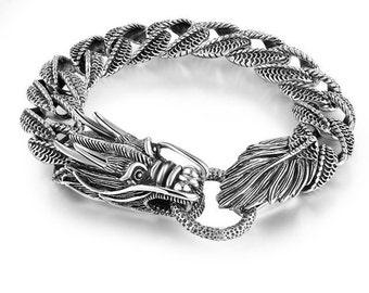 Stunning 925 sterling silver beautiful dragon Bracelet