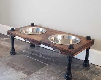 Industrial Elevated Dog Bowls