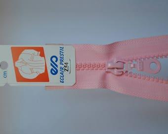 zipper 40cm separable pink Z54 803 mesh plastic molded