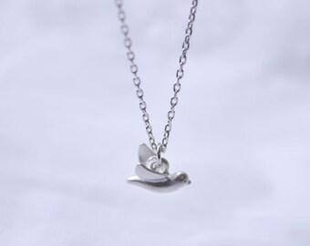 Lovely tiny bird charm chain necklace - 2248-1