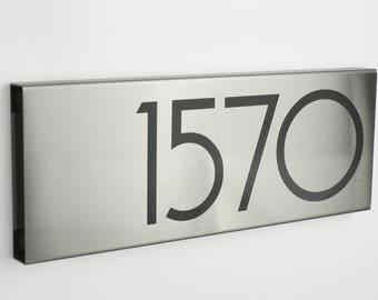 Custom Metal House Numbers - Modern House Numbers - stainless steel - contemporary - N176s